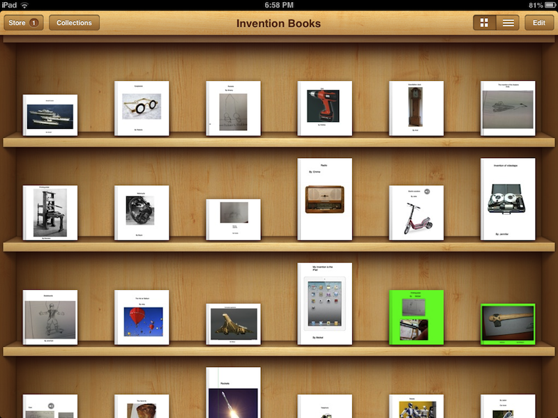 Kid-made ebooks at PS347